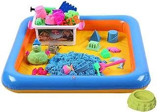 砂遊びおもちゃ 砂場セット 砂セット 砂粘土 遊び 赤ちゃんおもちゃ ギフト プレゼントに 2kg砂 型抜き72個 サンドテーブル1つ 収納ボックス付き(サンドカラー)