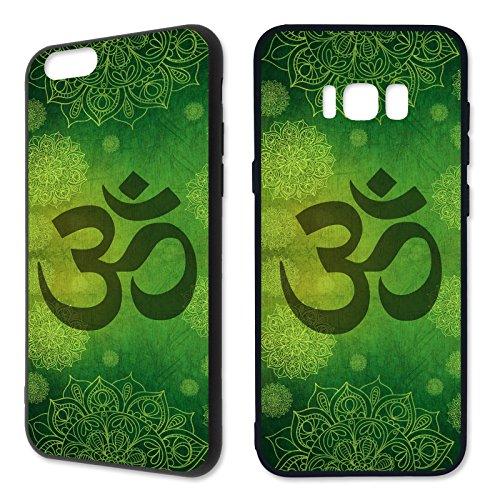 Preisvergleich Produktbild Handyhülle Mandala für Samsung Hardcase Hippie Yin Yang Goa Om Buddha Peace Yoga,  Kompatibel mit Handy:Samsung Galaxy S6,  Hüllendesign:Design 1 / Hardcase Schwarz