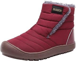 [花千束_シューズ] レディース 雪ブーツ 冬 アンクルブーツ ショートブーティー 防水 雪靴 暖かい 防寒 スノーブーツ 冬靴
