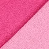 Fabulous Fabrics Fleece pink, Uni, 145 cm breit – Fleece