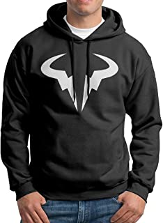 Rafael Nadal Ox Bull Head Men's Blank Hoodie Sweatshirt Coat
