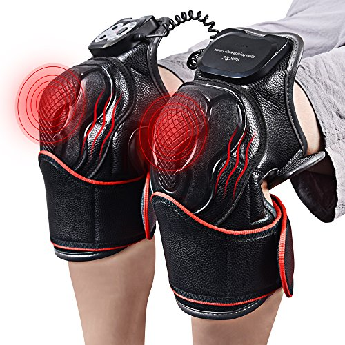Electric Knee Massager Knee Pads - Vibration Heat Therapy for Pain Relief Physiotherapy Recovery Knee Joints Massager- 1 Pair for Left&Right - Ideal Gift for Mom/Dad/Men/Women
