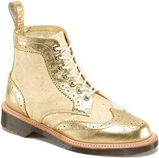 Dr. Martens Women's Surya 7 Eyelet Brogue Boots,Gold,5 M UK / 7 B(M) US