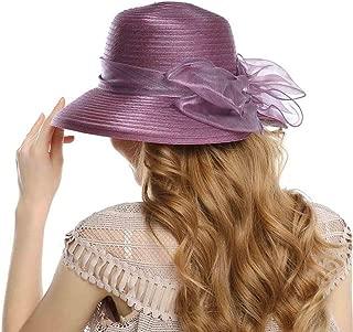 HappyShopDecoration Fascinator Hats for Women Elegant Bowknot Yarn Fedoras Ladies Wedding Party Hat