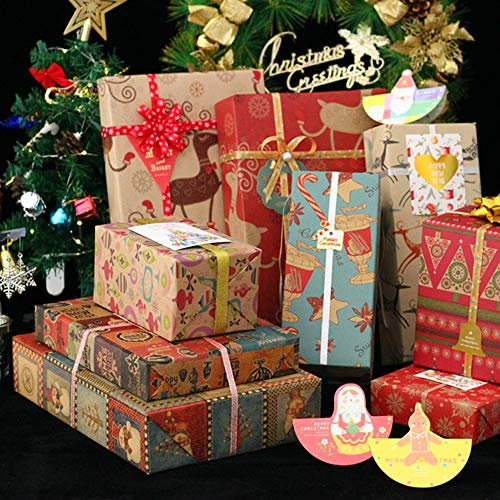 Christmas Gift Wrapping Paper 10 Pack, 70x50CM Large...