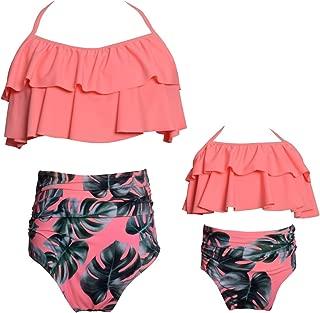 girls orange swimsuit