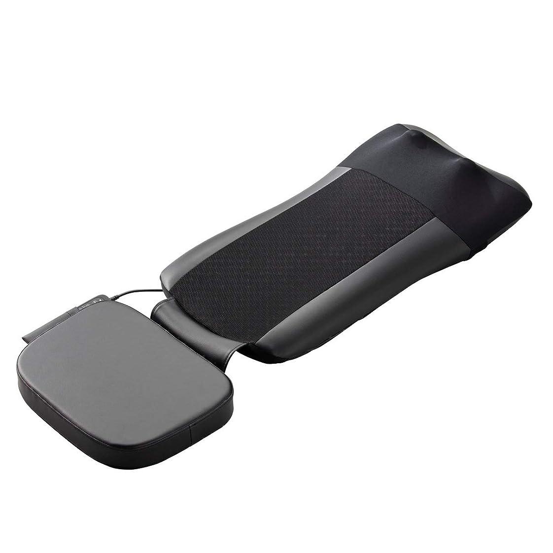 支払うと遊ぶ知的スライヴ マッサージシート 【通販専用モデル】 寝て使用可能 たたき機能搭載 ストレッチコース付き ブラック MD-8671 BK