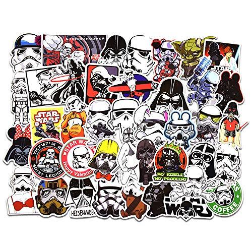 FEZZ 50PCS Autocollants Stickers Star Wars Graffiti Vinyles Imperméable DIY Ordinateur Portable Voiture Moto Vélo Bagages Planche roulettes
