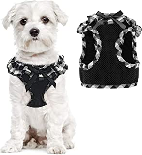 PUPTECK Checkered Frills Soft Mesh Dog Vest Harness Puppy Padded Pet Harnesses for Cat Small Dogs