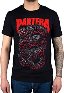 AWDIP Men's Official Pantera Venomous Snake T-Shirt Band Heavy Metal Rip