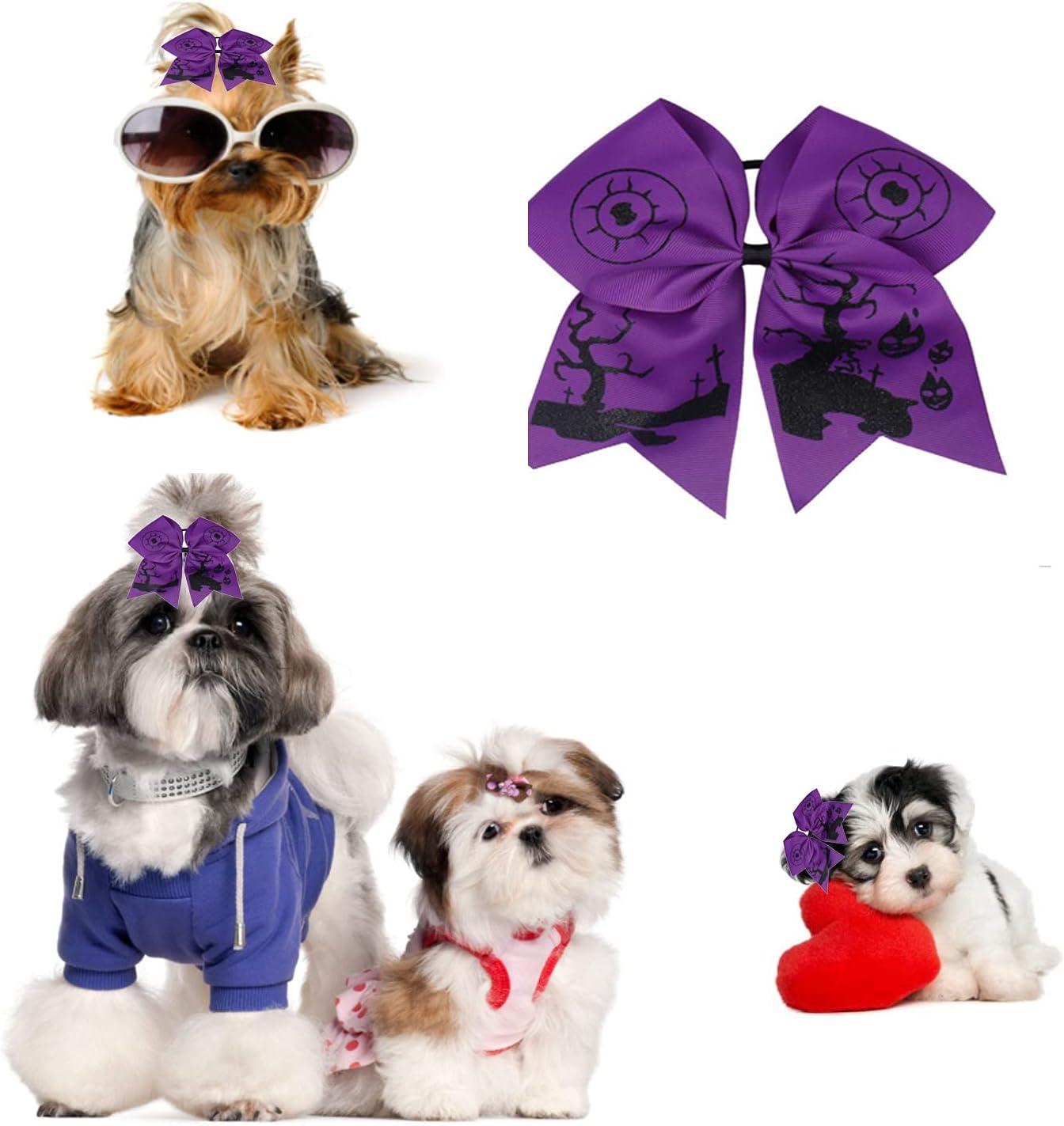 Cloud Long Beach Mall mass 2Pcs Excellence Halloween Dog Topknot B Hair Bows