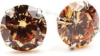 Youree Swarovski Elements Zirconia CZ 3-8MM Stud Earrings Mens Womens Jewelry Bridesmaid Groomsmen Gifts (ED-82)