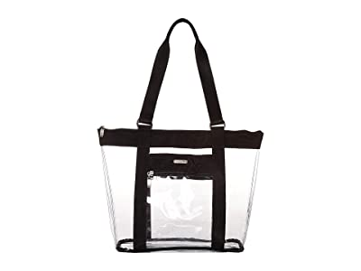 Baggallini Clear Event Compliant Tote (Black/Sand Lining) Handbags