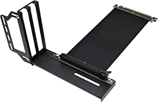 EZDIY-FAB Vertical Graphics Card Holder Bracket,GPU Mount,Video Card VGA Support Kit with Riser Cable