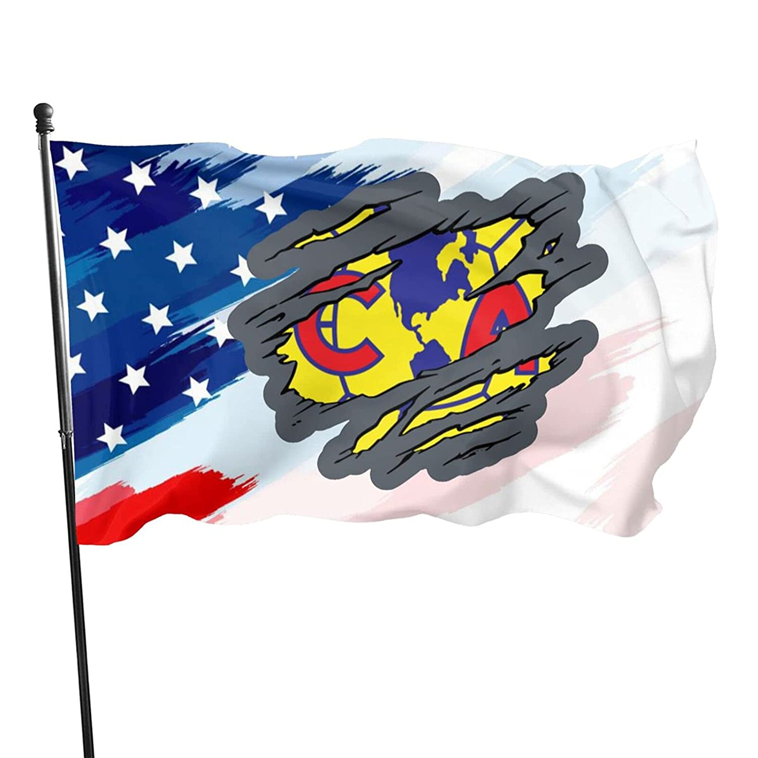Torn Club America Flags 3x5 Ft Home Flag Tough Durable, It Can Be Used For Outdoor Or Interior Decoration
