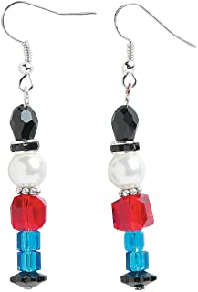 Fun Express - Nutcracker Beaded Earring ck for Christmas - Craft Kits - Adult Jewelry Craft Kits - Adult Earring - Christmas - 6 Pieces