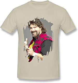 Men's Mick Foley Wrestler Poster Screw Neck T-shirt Black