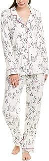 BedHead Womens Pajamas 2Pc Classic Pajama Set, M, White