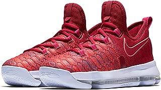 Nike Kids KD9 (GS) Basketball Shoe (5.5Y, University Red/Palest Purple)