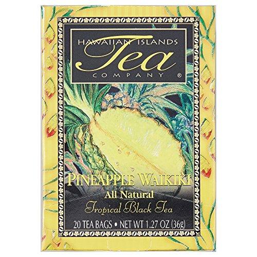 Hawaiian Islands Tea Company(ハワイ・アイランド・ティー・カンパニー) パイナップル・ワイキキ(紅茶) 20P(36g)×6個(1ケース) [正規輸入品]