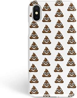 BroStore Poop Emoji Pile of Poo iPhone Case Full Wrap Plastic Protective Cover Matte Sublimation Hard Case for iPhone (Poop Emoji Pile of Poo iOS, iPhone 5/5S/SE)