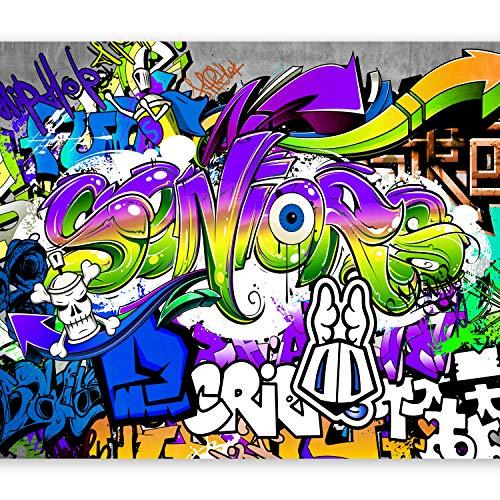 murando Papier peint intissé 150x105 cm Décoration Murale XXL Poster Tableaux Muraux Tapisserie Photo Trompe l'oeil Graffiti en couleurs i-B-0005-a-d
