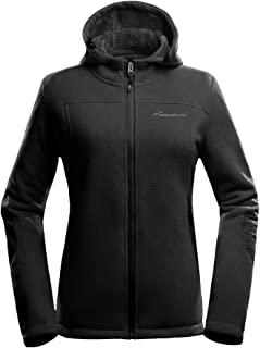 OutdoorMaster Women's Fleece Jacket - Waterproof & Stain Repellent, Ultra Soft Plush Lining & Optional Hoodie - Full-Zip