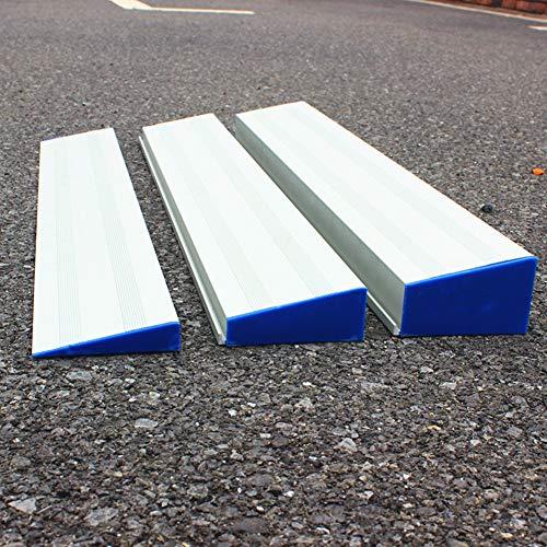 JLXJ Rampas Rampa para Silla de Ruedas de Umbral de Transición, Paquete de 3 Rampas de Escaleras Ligeras de Aluminio Desmontables, para Scooter de Interior al Aire Libre, Moto, Discapacitado