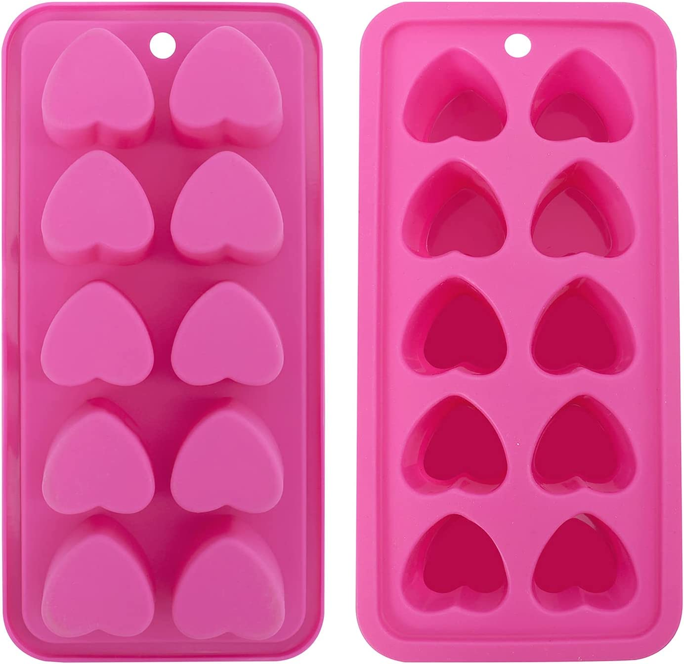 Heart shaped Ice Cube Trays,Fun Silicone Ice Cube Trays for Make  Heart shaped Ice Cube,Easy Release Ice Cube Mold for  Cocktails,Whiskey,Water ...