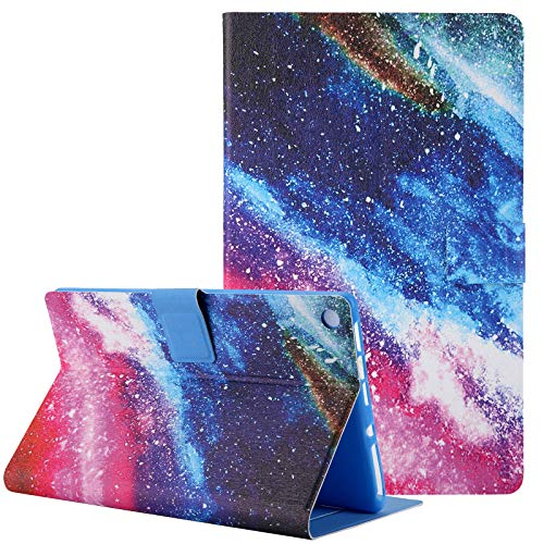 Case for Amazon Kindle Fire HD 8 2018/2017/2016 Previous Model, Uliking PU Leather Smart Covers Flip Kickstand Wallet Protective Case, Rainbow Marble