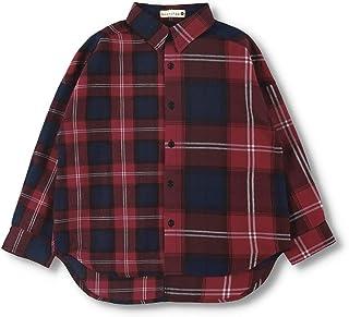 [ブランシェス] チェックシャツ 男の子 キッズ ボーイズ 長袖 ブラウス 衿付き 綿 コットン