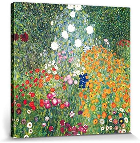 1art1 Gustav Klimt - Jardín De Flores, 1906-08 Cuadro, Lienzo Montado sobre Bastidor (50 x 40cm): Amazon.es: Hogar
