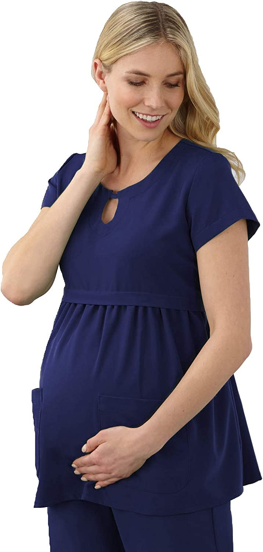 Womens Maternity Empire Waist Line Blouse Top 3//4 Sleeve 566p HAPPY MAMA