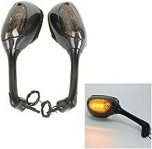 TCMT Carbon Side Rear View Mirrors Signal Fits For Suzuki GSXR 600 700 1000 GSX-R 05-15 07