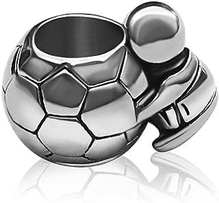 KunBead Football Charm Soccer FIFA Sport Charms Beads for Bracelets