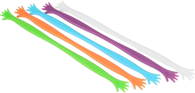 HEMOTON 5pcs Silicone Same day shipping Stirring Sticks Indefinitely Stick Swizzle Cof