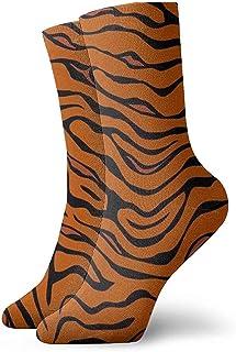 Dydan Tne, Tiger Stripe Animal Dress Calcetines Divertidos Crazy Socks Calcetines Casuales para niñas niños