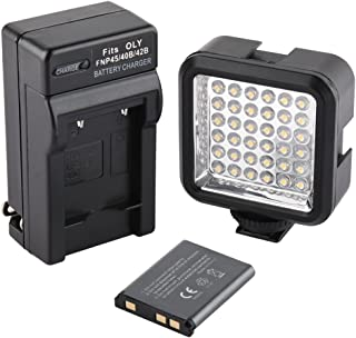 SUPON Ultra-Bright LED 36 Video Light Continuous on Camera Lighting Camcorders with Rechargeable Battery Pack and Charger Compatible for Canon, Nikon,Sony, Olympus,Pentax DSLR Cameras