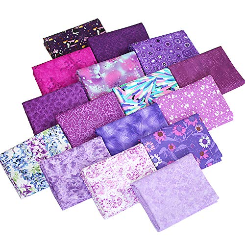 16 Pcs Floral Series Cotton Craft Fabric Bundle Rectangle Patchwork Floral Patterns Printed Quilting Sewing Patchwork Cloths for DIY Scrapbooking Crafts, 8.6 x 10.6 inches (22 x 27 cm)