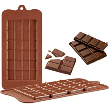 V-fox Silicone Break-Apart Chocolate, Protein and Energy Bar Molds (Set of 2)