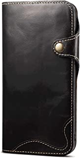Stylish Cover Compatible with Samsung Galaxy Note 10, black Leather Flip Case Wallet for Samsung Galaxy Note 10