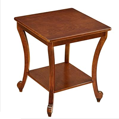 Amazon.com: Nested End Tables-Dark Cherry 22 Inch Height-A ...