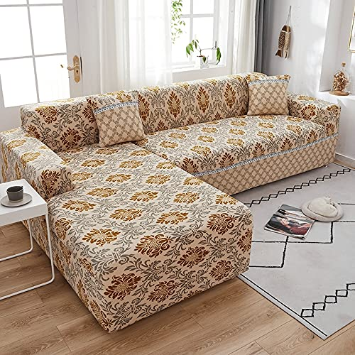 Sofás Modernos para Sala de Estar, seccional, Funda de sofá elástica elástica, Funda de sofá de Estilo Bohemia Ajustable, A3, 3 plazas