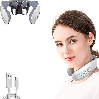 Masseur cervical, Masseur cervical intelligent , Masseur de nuque portable, Masseur cervical de voyage électrique comprena...