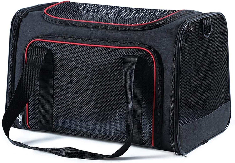 Backpacks Outer Shoulder Cat Bag Portable Pet Four Seasons Universal Dog Resistant To Breathable Mesh Foldable Suitable For 48kg Pets (color   Black, Size   40  25  25cm)