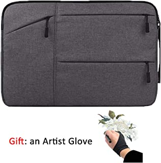 Drawing Tablet Case Carrying Bag with Artist Glove Graphics Tablet Sleeve Protective Bag for Huion H610 Pro, New 1060 Plus...