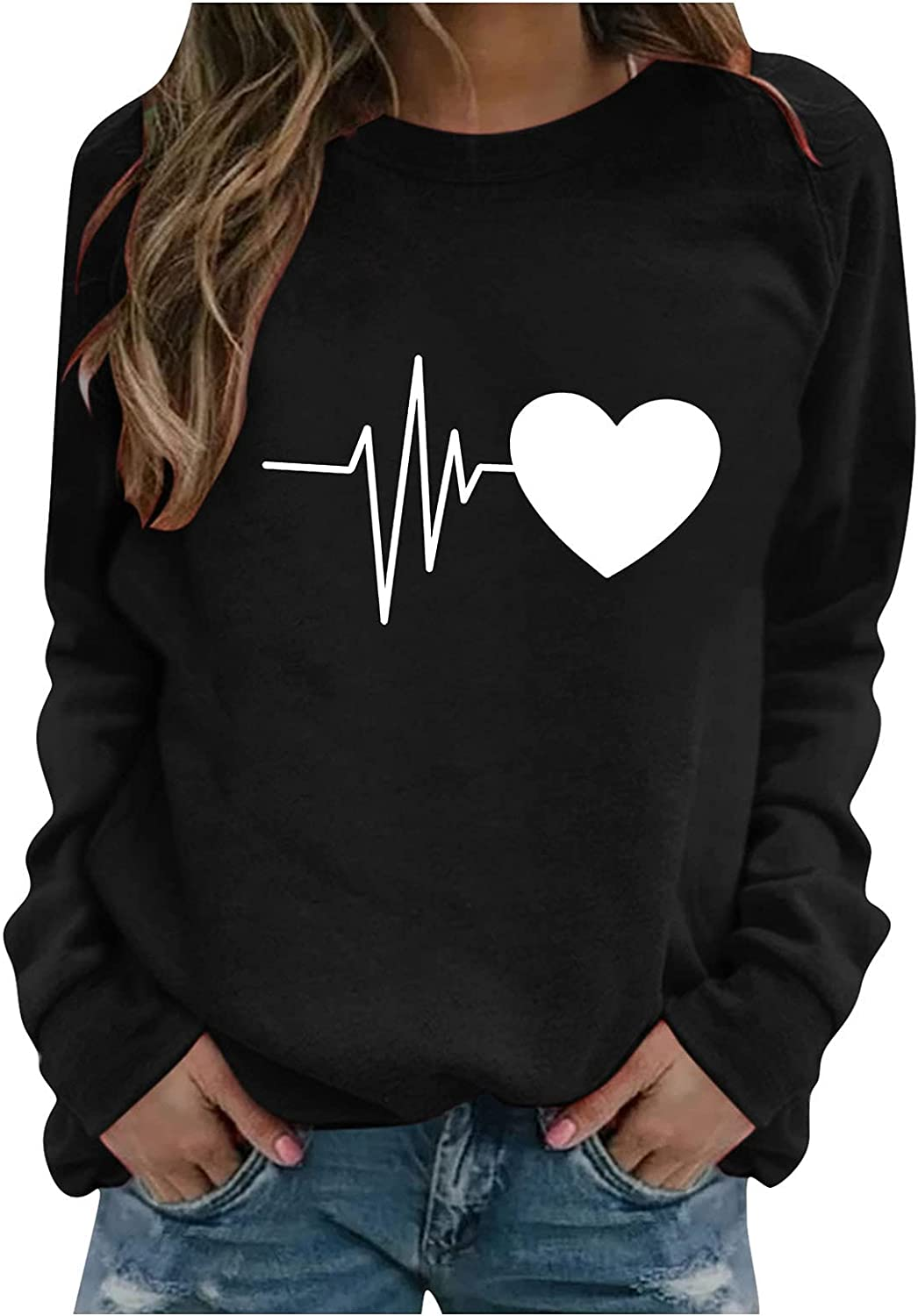 Fankle Womens Graphic Hoodie Butterfly Printed Sweatshirt Long Sleeve Casual Lightweight Hooded Pullover Tops
