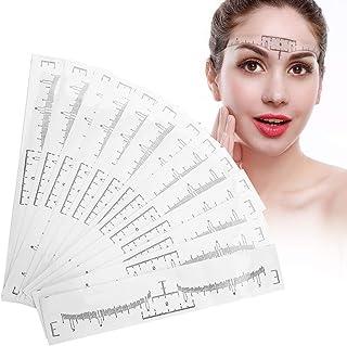 Wenkbrauwliniaal, 100 stuks wegwerp microblading wenkbrauw tattoo make-up stencil meting