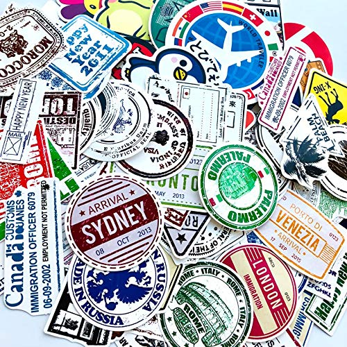 ZXXC 60Pcs/Lot Retro Traveling Boarding Pass Air Tickets Creative Stickers For Suitcase Laptop Luggage Bags Bike Phone Pvc Sticker