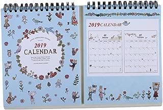 UINKE Planner Coloring Desk Calendar 12 Months Desk Easel Calendar Wire Organizer Agenda DIY Calendar,Blue